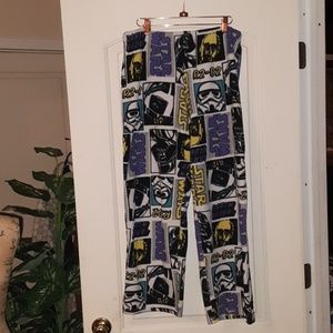 Unisex Star Wars Plush Pajama Pants Size Larger
